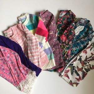 Girls 5t Sweater/Long Sleeve Top Lot